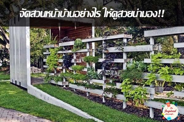 เมื่อมีพื้นที่จำกัด จะจัดสวนหน้าบ้านอย่างไร ให้ดูสวยน่ามอง
